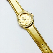 The Quilted Life Gold Watch