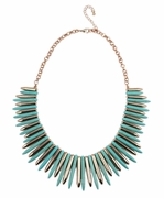 Turquoise Spike Collar