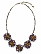 Violet Bloom Necklace