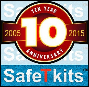 10 year anniversary of SafeTkits and Safetykitstore, 2005 to 2015