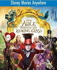 Alice Through the Looking Glass HD DMA Disney Movies Anywhere Code, Vudu or iTUNES