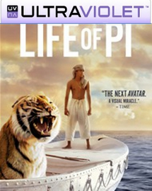 Life of Pi  SD UltraViolet UV Code + Digital Copy  (NO DVD)