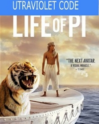Life of Pi UltraViolet Code (NO DVD)