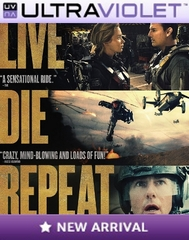 Live Die Repeat Edge of Tomorrow SD Digital Ultraviolet UV Code