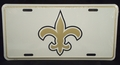 Black and Gold Fleur De Lis License Plate