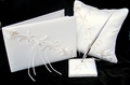 Elegant Lily Embroidered Wedding Accessory Set
