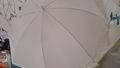 Plain White Secondline Umbrella