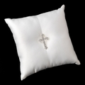 Ring Pillow with Silver Cross Brooch