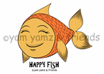 Happy Fish Rectangle Compact Mirror