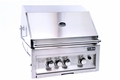 "28"" 3 Burner Stainless Steel Grill /IR Rotissoire, Halogen Lights by FLO Grills�"