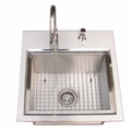 FLO Grills� Deluxe 304 Stainless Steel Sink for Outdoor Kitchens