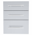 Designer Series Raised Style 18-inch Wide x 23-inch High Triple Drawer