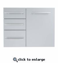 Designer Series Raised Style 30-inch Triple Drawer with Propane\Trash Drawer Combo