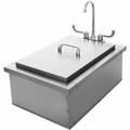 "Pacific Stainless Steel Sink / Insulated Ice Bin 15""x 24"""