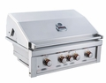 Ruby 36-Inch 4-Burner Pro-Sear Gas Grill with Infrared Back Burner and Rotisserie