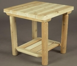 "20"" Log Style Side Table"