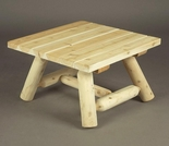 """24"""" Square Log Style Coffee Table"""