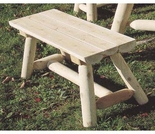 3 Foot Log Benches: Set of 2