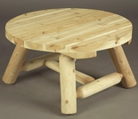 "36"" Round Cedar Coffee Table"