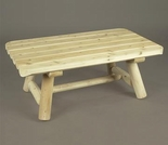 "42"" Rectangular Log Style Coffee Table - Additional Cyber Week Discount!"