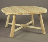 "48"" Dia, 28"" Tall Round Log Style Umbrella Table"