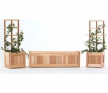 5 piece Planter Set with Trellis Kit