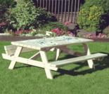 "68"" Clasic White Cedar Picnic Table w/ Flip Seats - Additional Cyber Week Discount!"