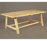 "68"" Harvest Family Log Style Farmers Table"