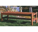 Backless Garden Bench 4 Foot