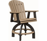Berlin Gardens Comfo Back Extra Tall Swivel Bar Chair