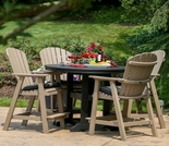 Berlin Gardens Resin Comfo-Back 4 Seat Bar Height Dining Set