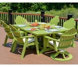 Berlin Gardens Resin Cozi-Back 6 Seat Rectangular Dining Set