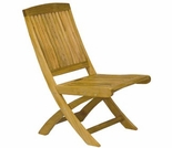 Three Birds Braxton Teak Folding Side & Arm Chair