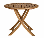 "Cambridge Teak 30"" Round Folding Bistro Table"
