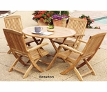 Three Birds Cambridge Teak 4 Person Dining Set