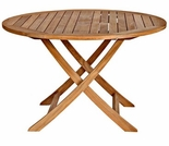 "Three Birds Cambridge Teak 40"" Round Folding Table"