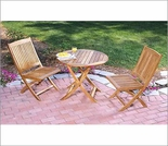 Three Birds Cambridge Teak Bistro Set