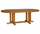 "Three Birds Camden Teak 72"" Oval Dining Table"