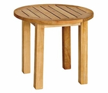"Three Birds Canterbury Teak Tall 20"" Side Table"