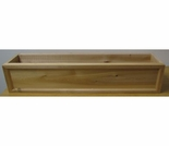 Cedar Frame Front Window Box Planter - 3 Sizes