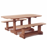 Cedar Oval Picninc Table Optional Kit