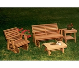 Cedar Rocking Classic Gliders & Tables Set