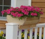 Cedar Rounded Deck Rail Planter