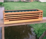 Cedar Slatted Deck Rail Planter Box
