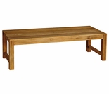 Three Birds Charleston Teak 2', 4', 5' & 6' Backless Benches