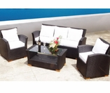 Charleston Wicker Sofa Group - 4 Piece Set - Color Options