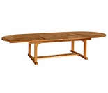 "Chelsea Teak 80"" - 115"" Oval Extension Table"