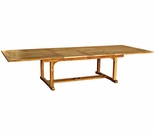 "Three Birds Chelsea Teak 80"" - 115"" Rectangle Extension Table"