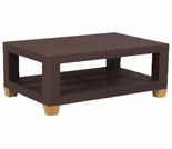 Three Birds Ciera Wicker Rectangle Coffee Table