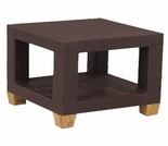 Three Birds Ciera Wicker Side Table